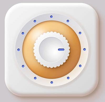 开关按钮,设计齿轮形的调节开关主题按钮