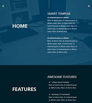 响应式个人网站模板
