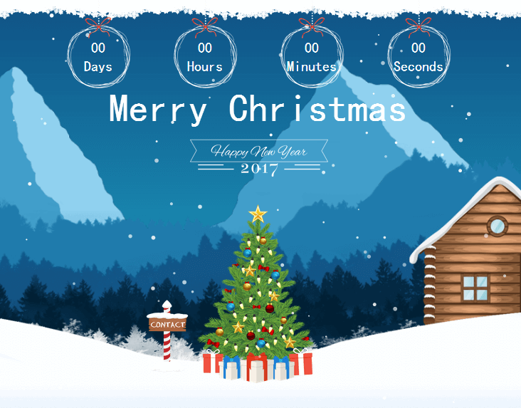 圣诞节主题网站HTML模板