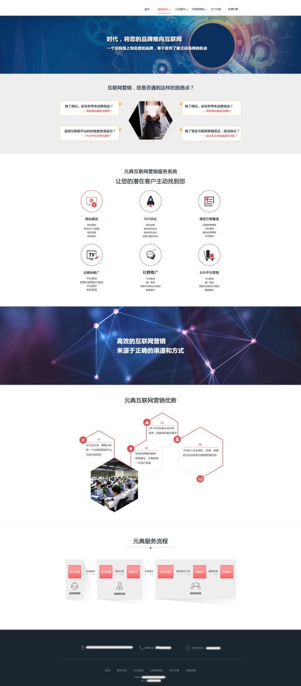 互联网品牌营销公司首页PSD模板