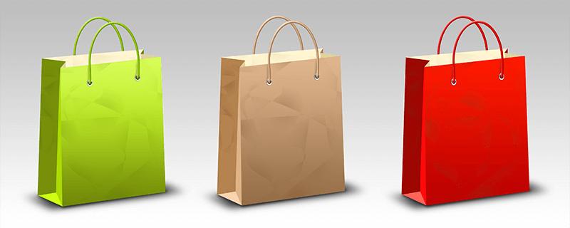 背景透明的购物袋PSD素材