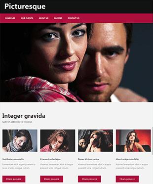 粉红色个人博客网站html静态模板
