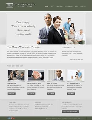 律师事务所网站html静态模