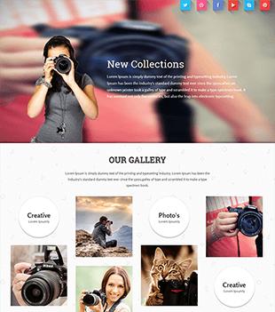 响应式摄影网站html模板