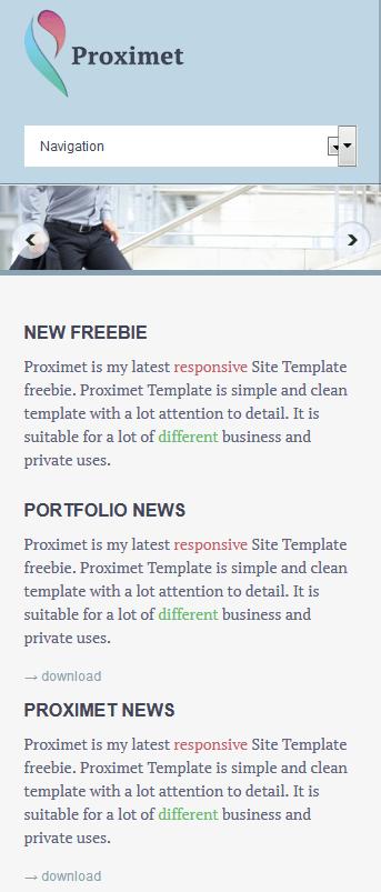 淡蓝色企业网站响应式html模板