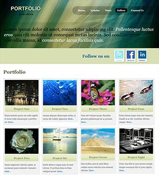 图片展示型网站html模板