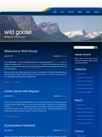 蓝色个性个人博客html模板