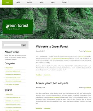 绿色森林风格个人博客html模板