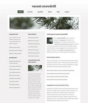 白茫茫雪堆三列网页模板