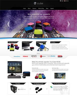 高清影院网站html模板