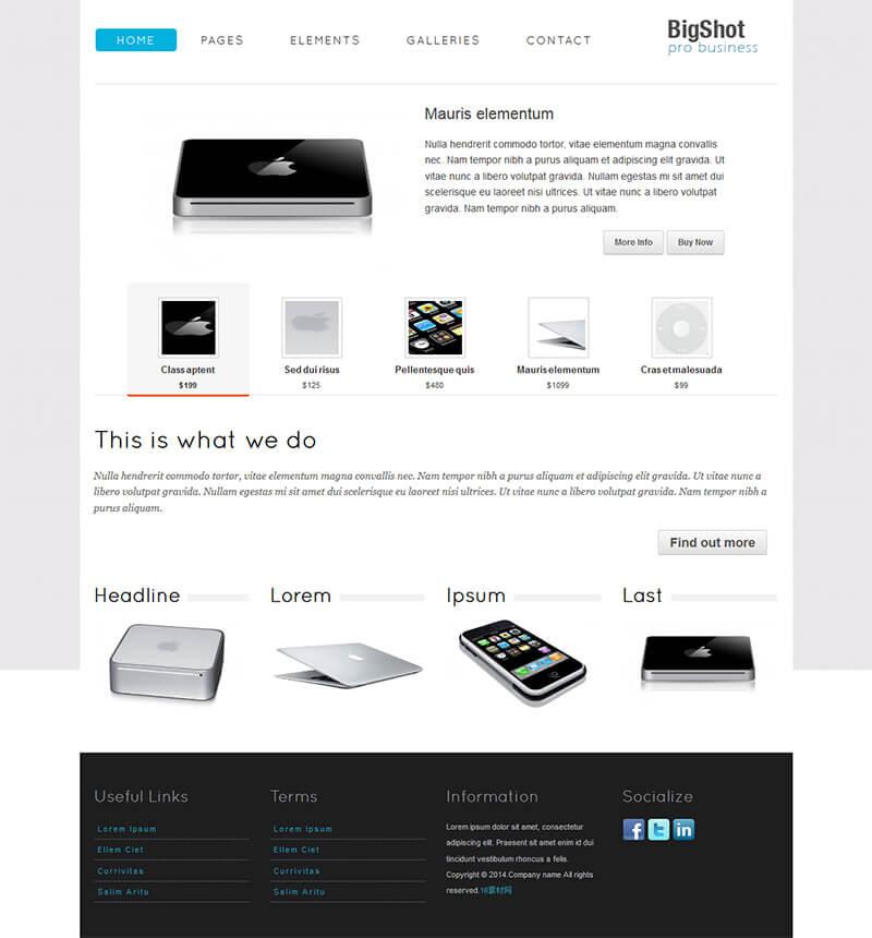 js效果齐全的企业站html模版