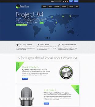 清爽的个性字体企业网站html模板