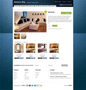 时尚家居网上商城整套html模板