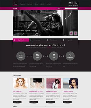 时尚潮流的女性网站html模