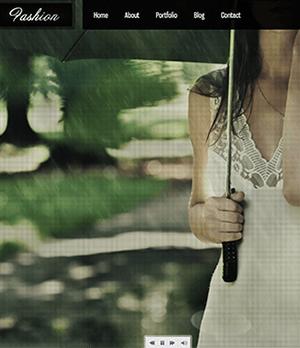 抽丝女性背景个人博客网站HTML模板