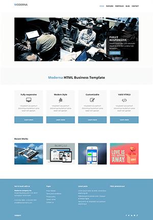 淡蓝色企业网站HTML模板