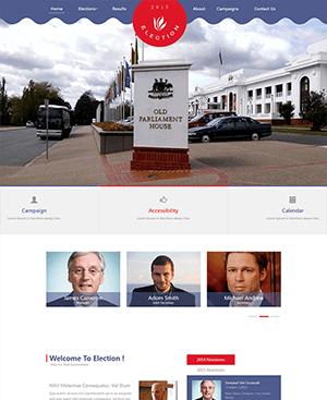扁平化政府网站html模板