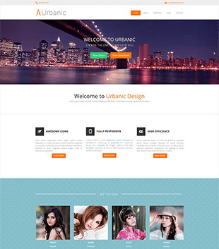 响应式设计公司网站css模板