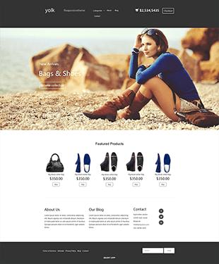 背包鞋子商城HTML模板