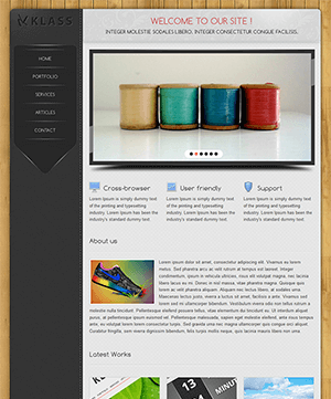 Klass木纹背景封面风格个人博客html模板