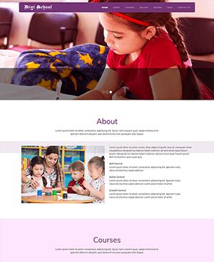 紫色教育网站响应式html模