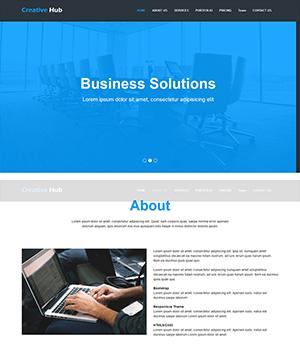 蓝色网络科技公司网站响应式html模板