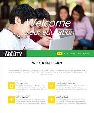 绿色儿童教育网站响应式html模板