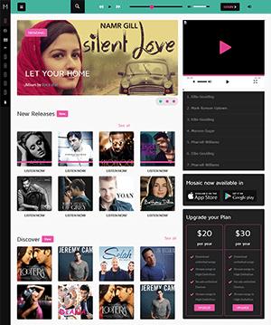 响应式个性视频音乐网站HTML模板