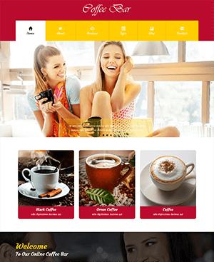 coffee bar 咖啡吧门店html模