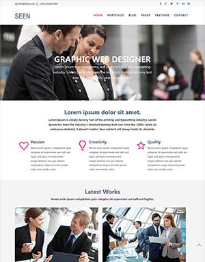 响应式企业网站html模板