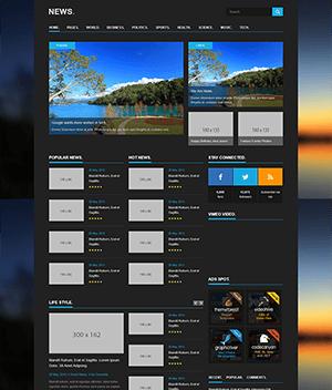 新闻媒体网站html5+css3响应式模板
