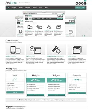 可切换背景色的响应式app开发公司网站html模板