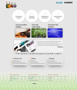 清爽的HTML5+CSS3个人博客