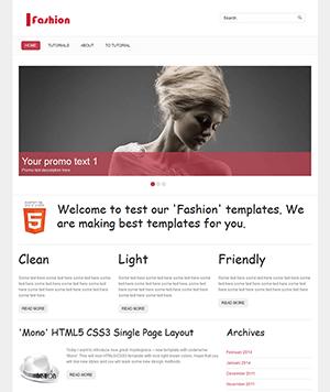 时尚主题的html5个人博客