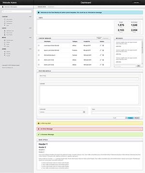 html5后台管理系统模板