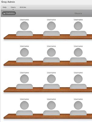 灰色木纹桌面风格会员管