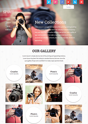 SPIRIT响应式摄影网站HTML