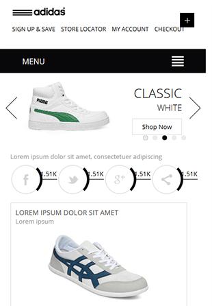 黑色鞋子商城响应式HTML