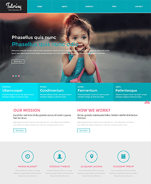 儿童教育英文网站HTML模板