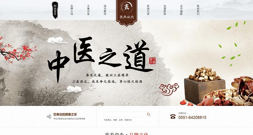 中国风健康管理企业html模板
