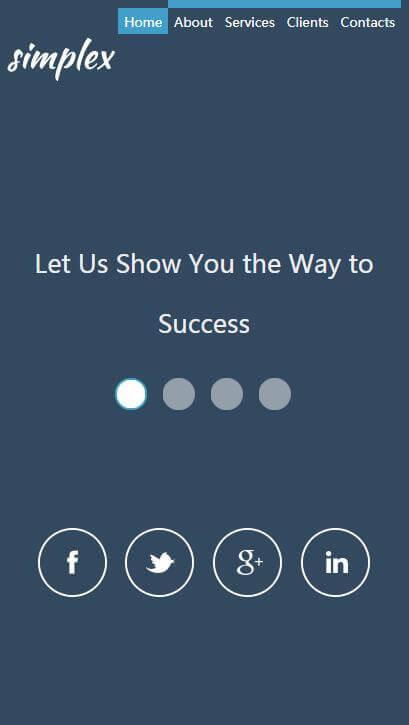 扁平简约的单页面英文博客HTML模板