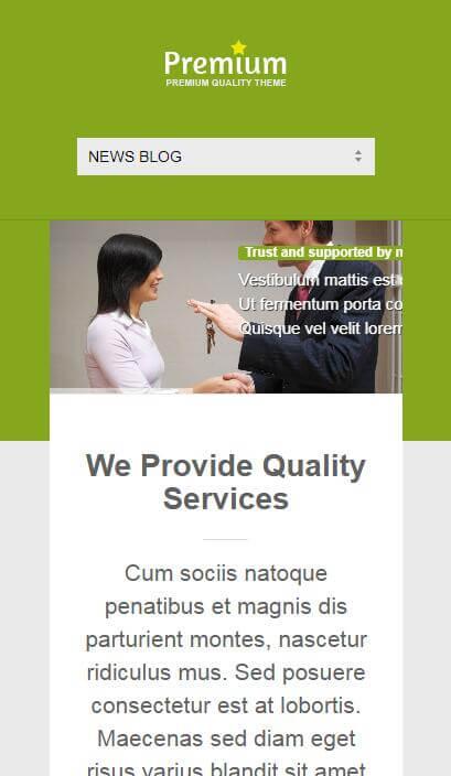 绿色响应式英文静态网页模板