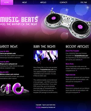 设计新颖的音乐网站html模板