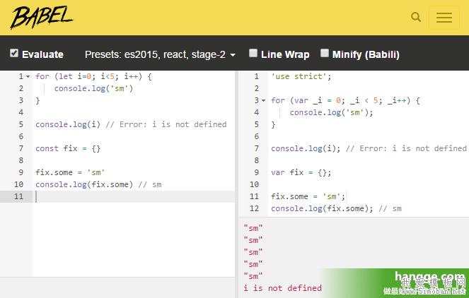 JS - Babel使用详解1(基本介绍、使用babel-standalone实现ES6在线转换)