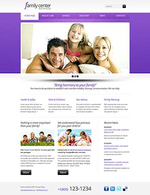 紫色医疗相关的英文网站html模板