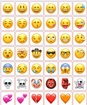 567个IOS风格emoji表情打包下载