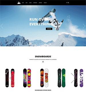 户外滑雪运动器材商城HTML模板