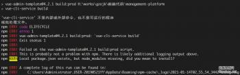 'vue-cli-service'不是内部或外部命令,也不是可运行的程序或批处理文件