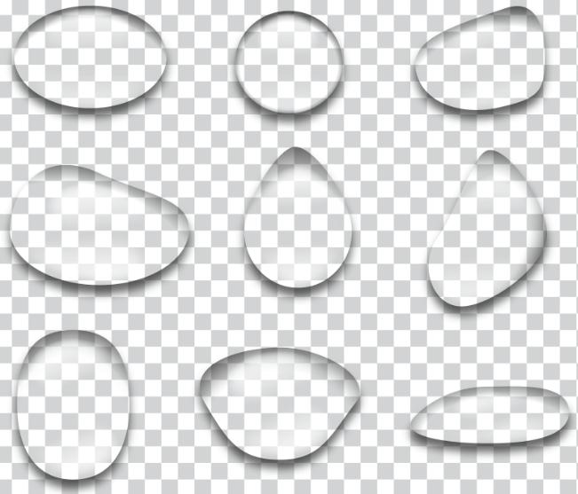 九个非常真实的水滴AI素材