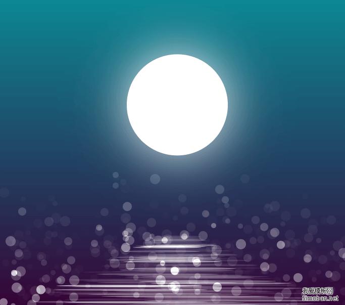 非常美的基于Html5+canvas的河上月亮倒影特效